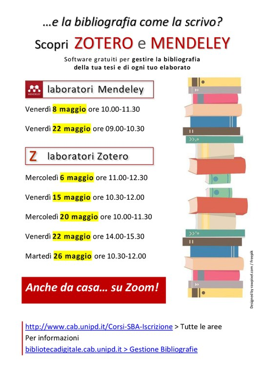 Laboratori mendeley zotero maggio 2020