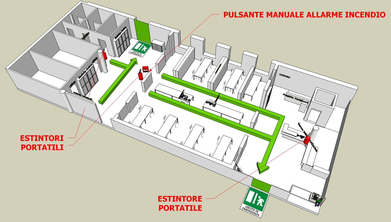 Immagine piano evacuazione biblioteca